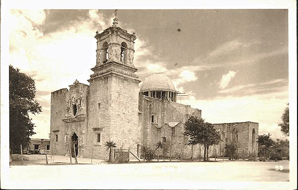 Real Photo Postcard of San Jose Mission, San Antonio, Texas
