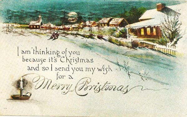 Christmas Scene Postcard