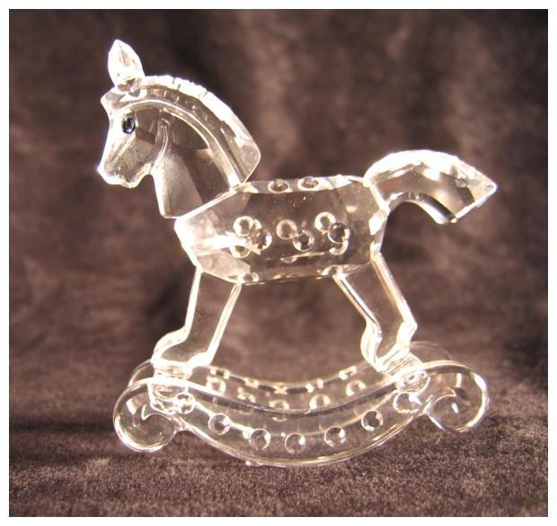 Retired Swarovski Crystal Rocking Horse Figure