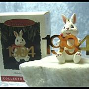 Hallmark Fabulous Decade Bunny Rabbit Ornament 1994