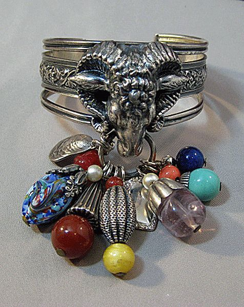 Napier Ram's Head Charm Bracelet Very Hard to Find