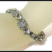 Gorgeous and Exceptionally Bright Rhinestone Bracelet