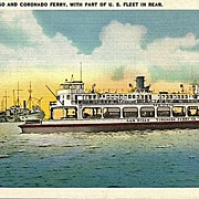 Postcard of San Diego and Coronado Ferry