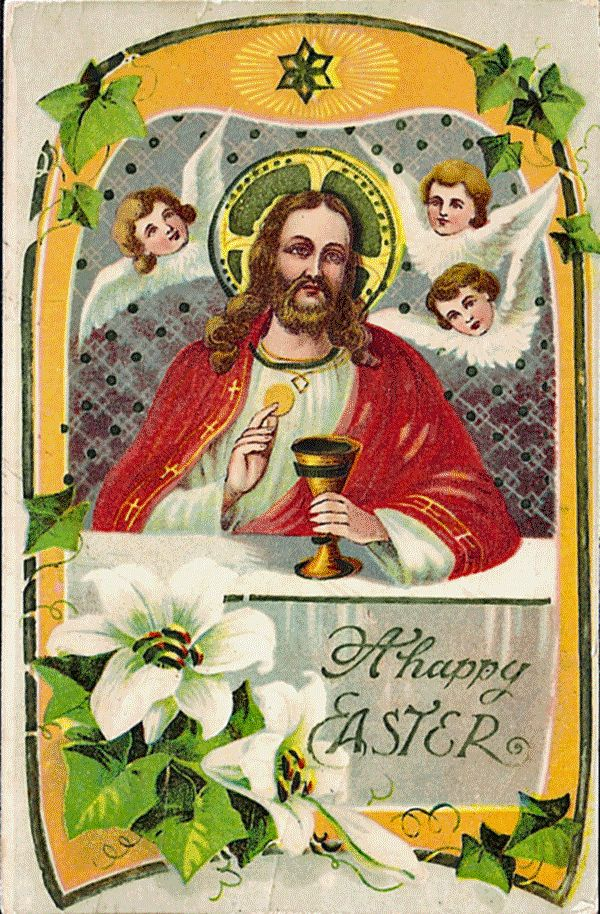 Easter Postcard - Jesus at Last Supper