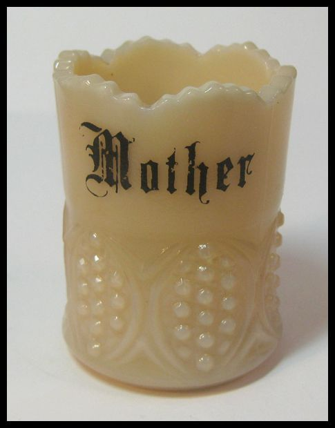 Crown Tuscan Toothpick Holder Signed Mother