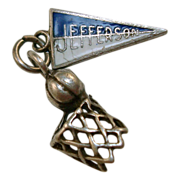 Sterling Basketball Hoop Charm - Jefferson