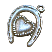Sterling Horseshoe Heart Charm