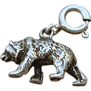 Sterling Bear Charm