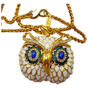 Kenneth J Lane Owl Necklace
