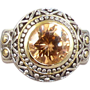 Amber Rhinestone Ring