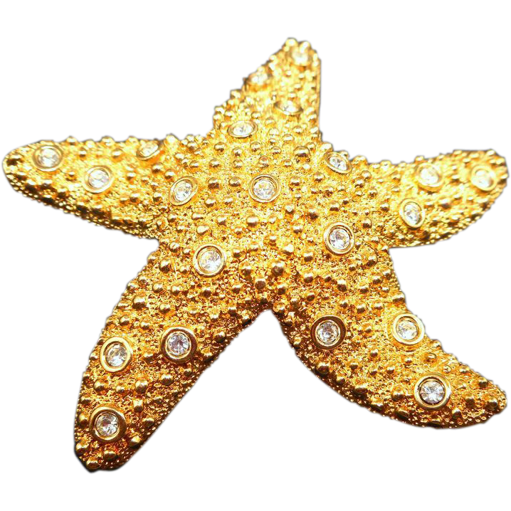 Swarovski Starfish Brooch
