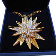 Swarovski Crystal Starburst Necklace
