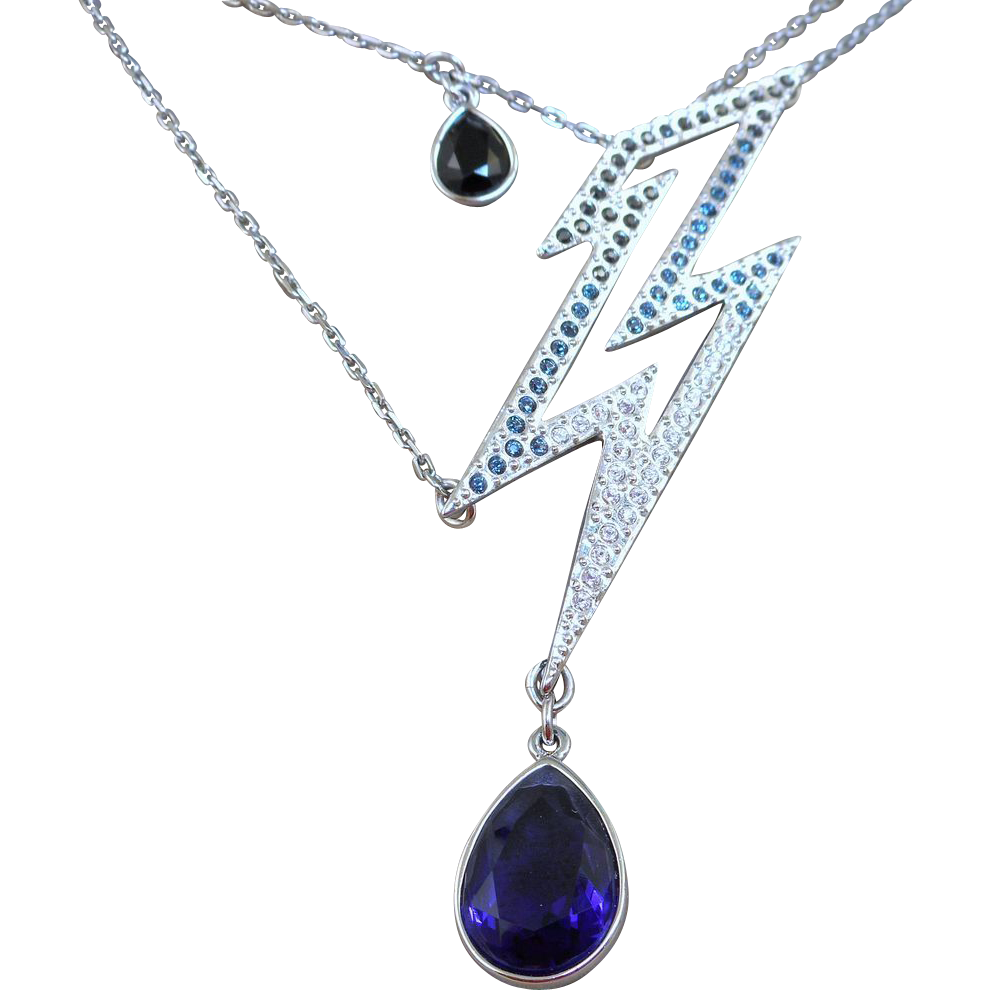 Swarovski Lightning Bolt Necklace