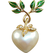 Joan Rivers Heart Brooch