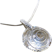 Swarovski Crystal SCS Seashell Pendant Necklace