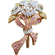 Swarovski Bouquet Brooch