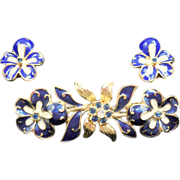Joan Rivers Pansy Pin Earrings