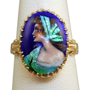 14K Gold Portrait Ring