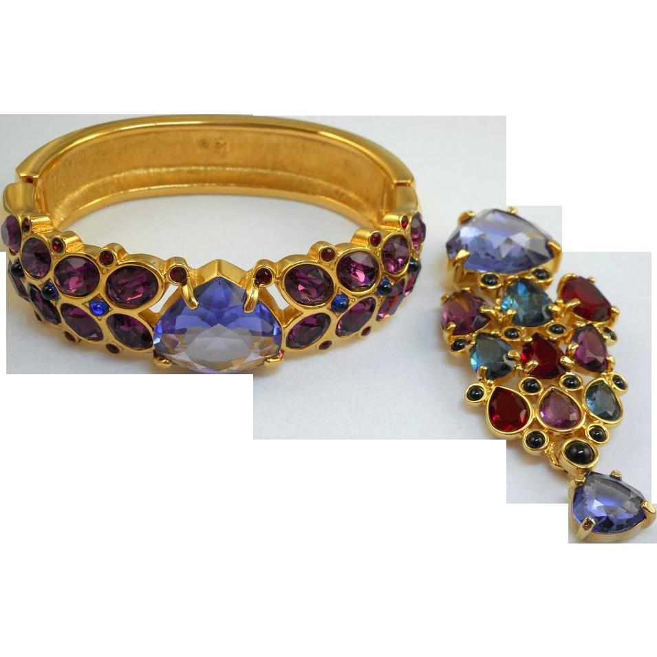Swarovski Bracelet & Brooch Set