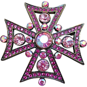 Givenchy Maltese Cross Brooch