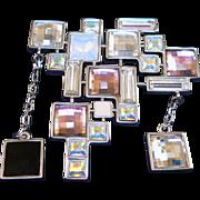 Swarovski Crystal Abstract Brooch