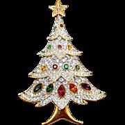 Swarovski Christmas Tree Brooch