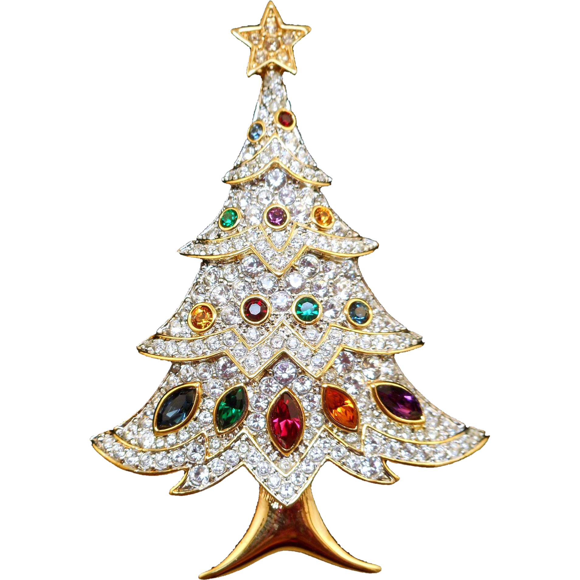 Swarovski Christmas Tree Pin