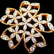 Swarovski Snowflake Pin