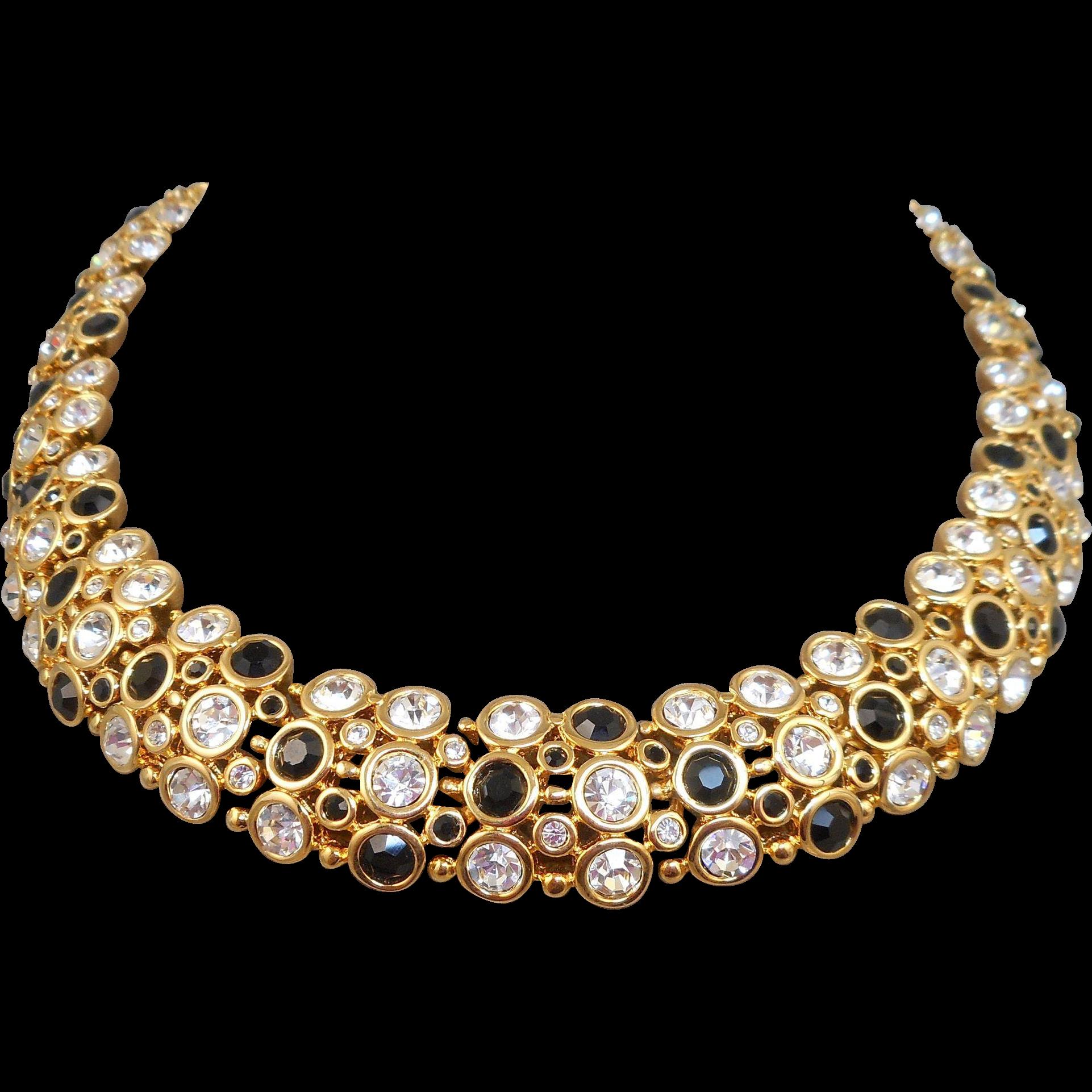 Swarovski Choker Necklace From Antiqueali On Ruby Lane