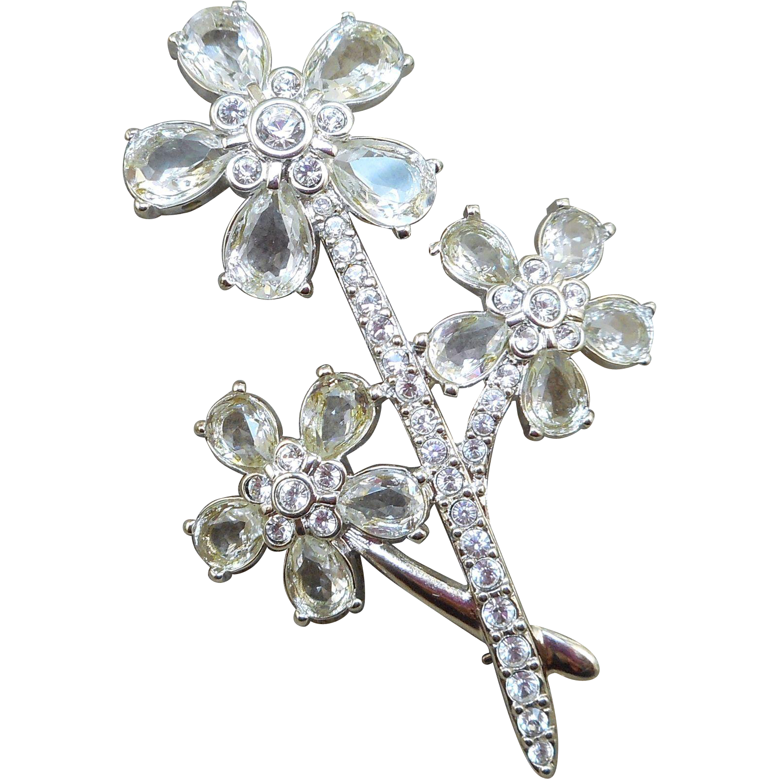 Swarovski Flower Brooch