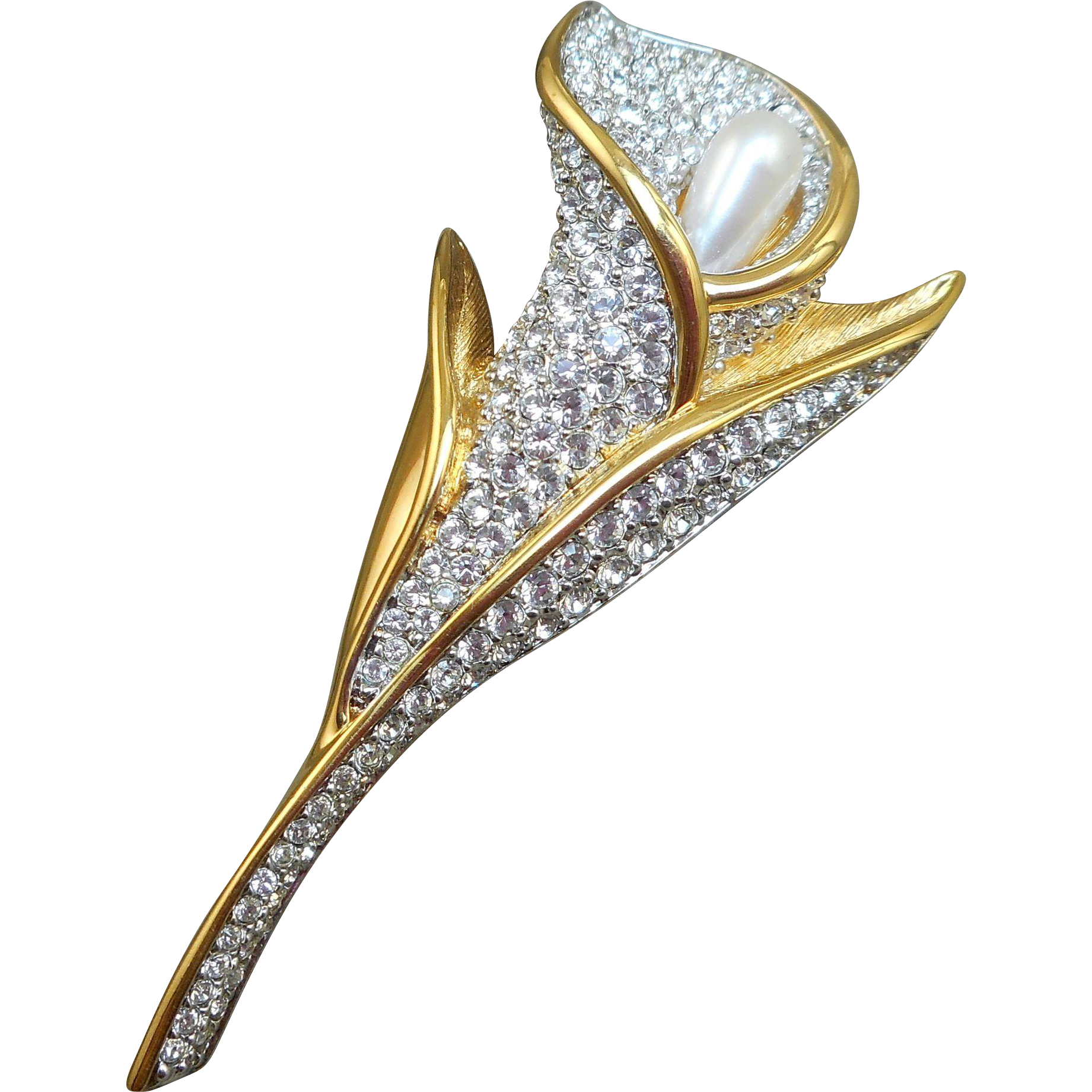 Swarovski Calla Lily Flower Brooch