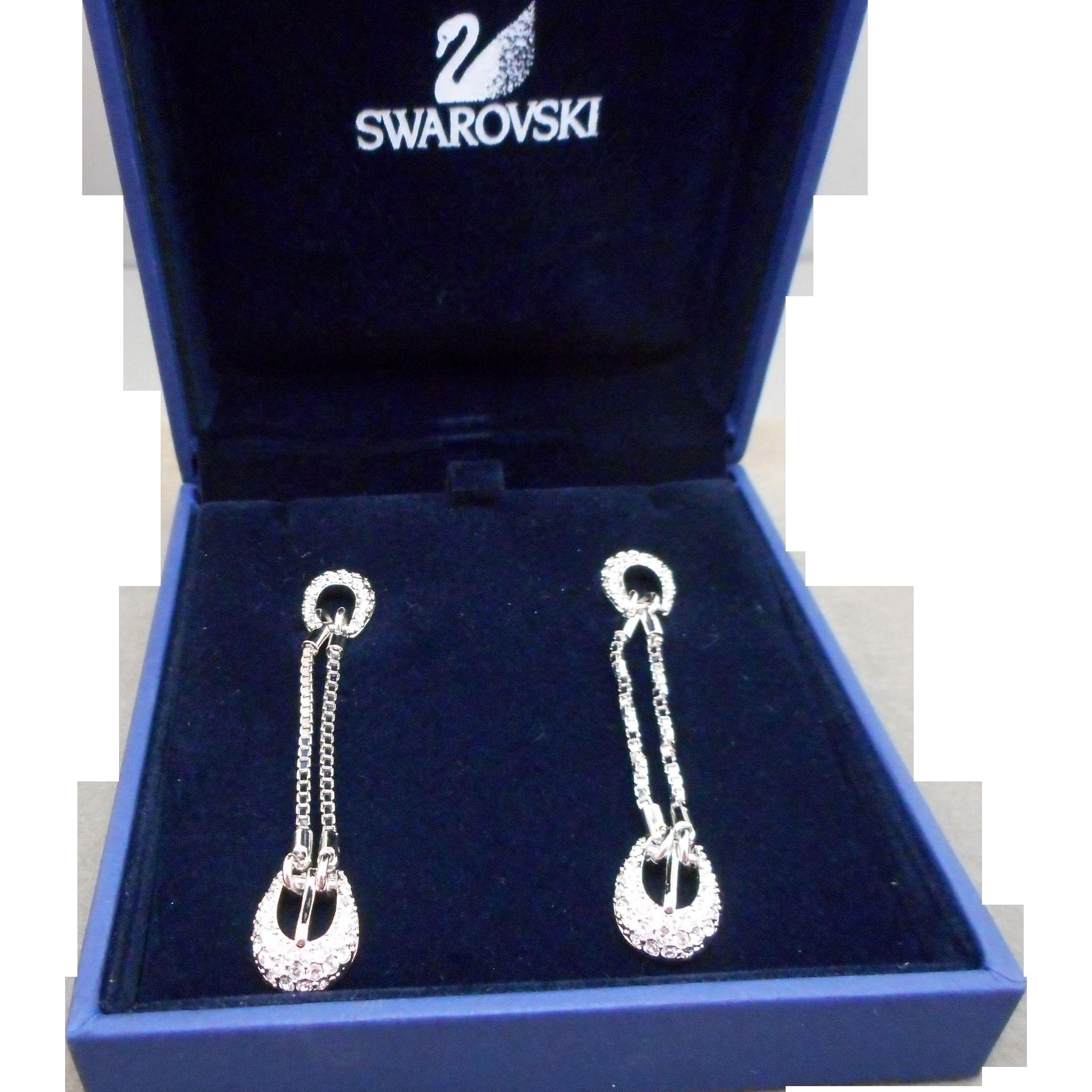 Swarovski Buckle Earrings