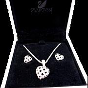 Swarovski Heart Necklace/Earrings Set
