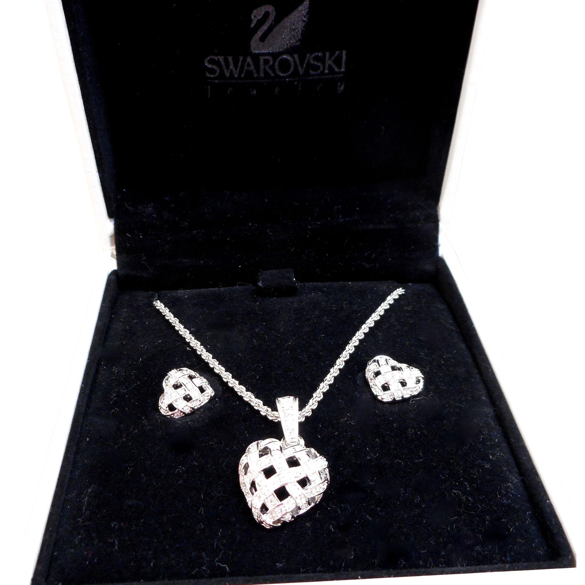 Swarovski Heart Necklace/Earrings Set