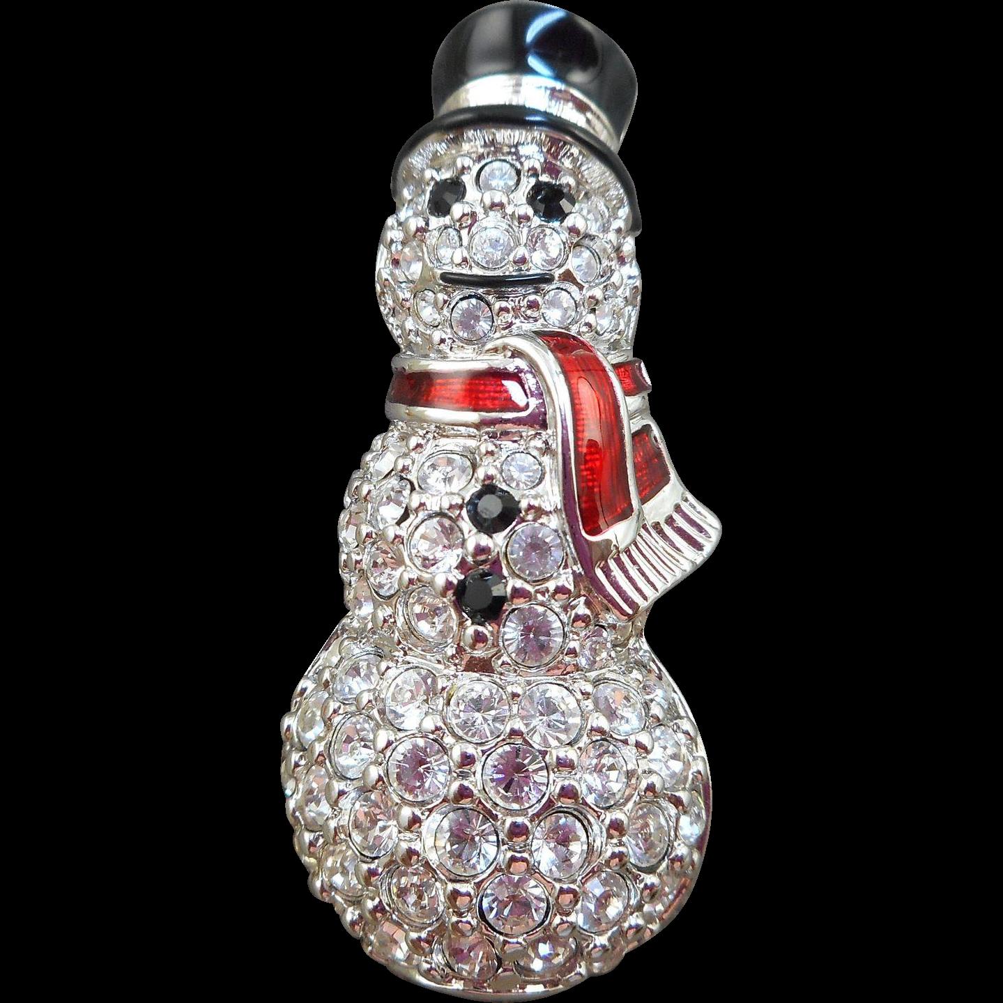 Swarovski Snowman Brooch