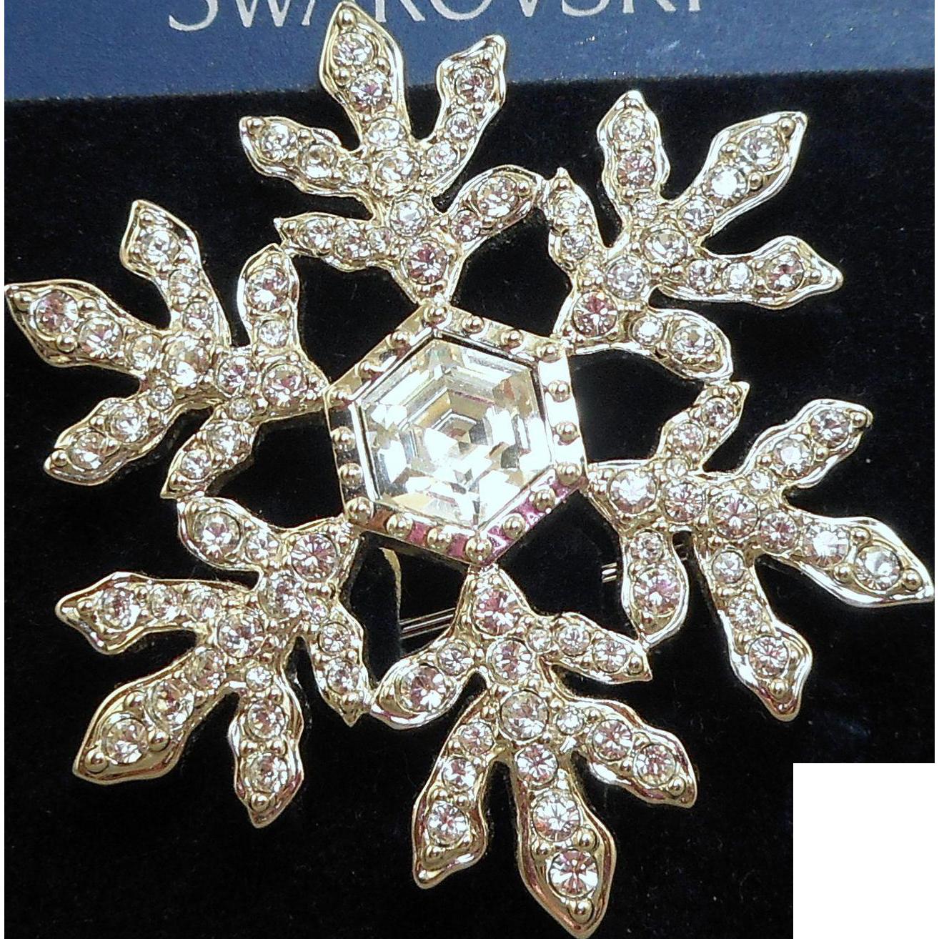 Swarovski Snowflake Brooch