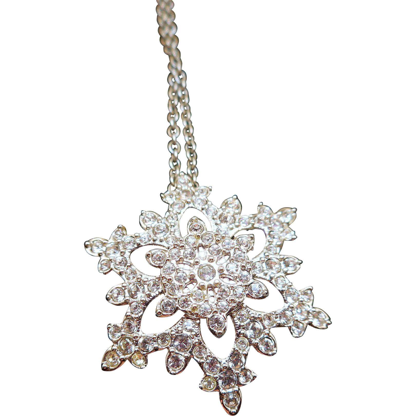 Swarovski Snowflake Necklace