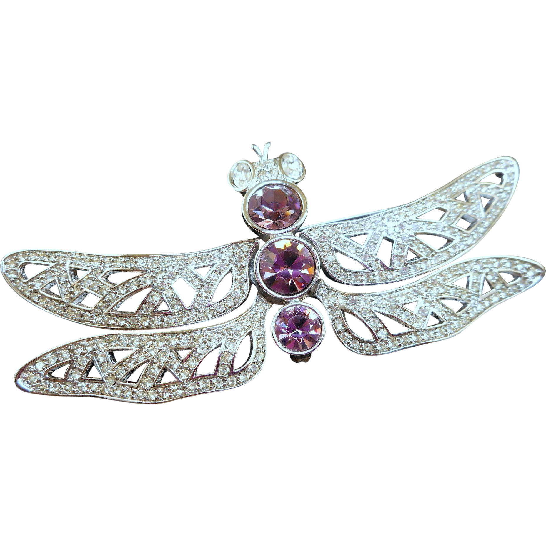 Huge Dior Dragonfly Brooch