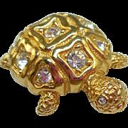 Swarovski Turtle Pin