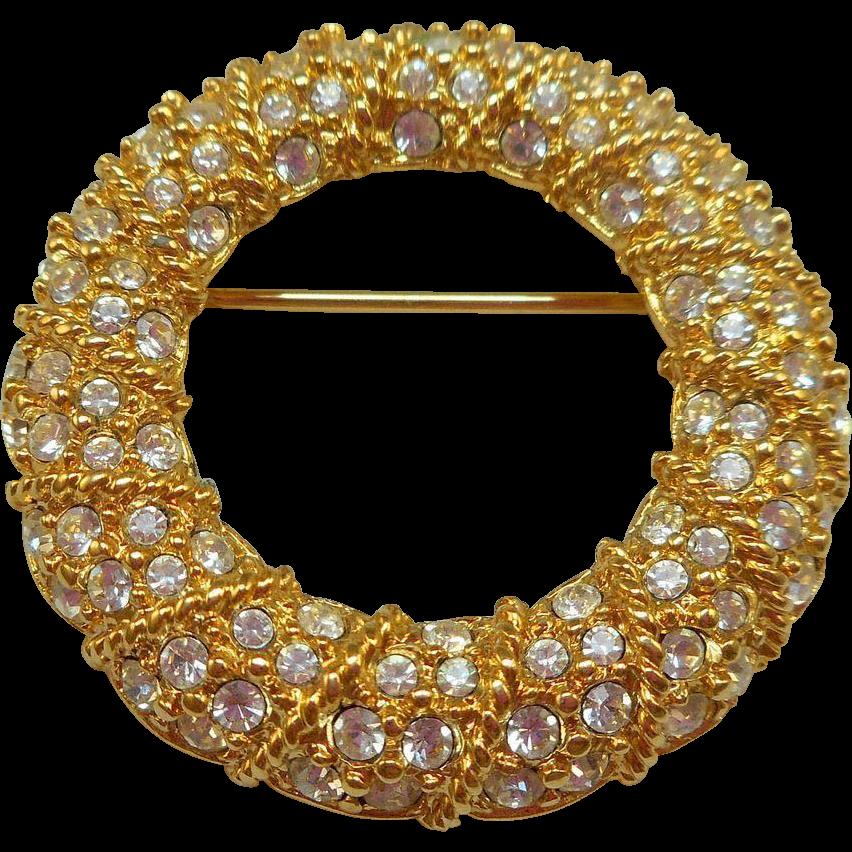 Swarovski Circle Pin