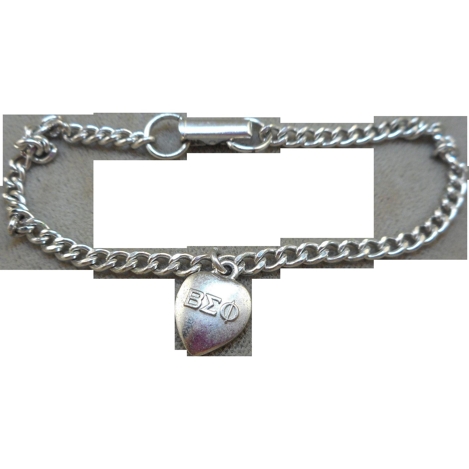 Beta Sigma Phi Welcome Charm Bracelet