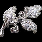 Swarovski Leaves Pin