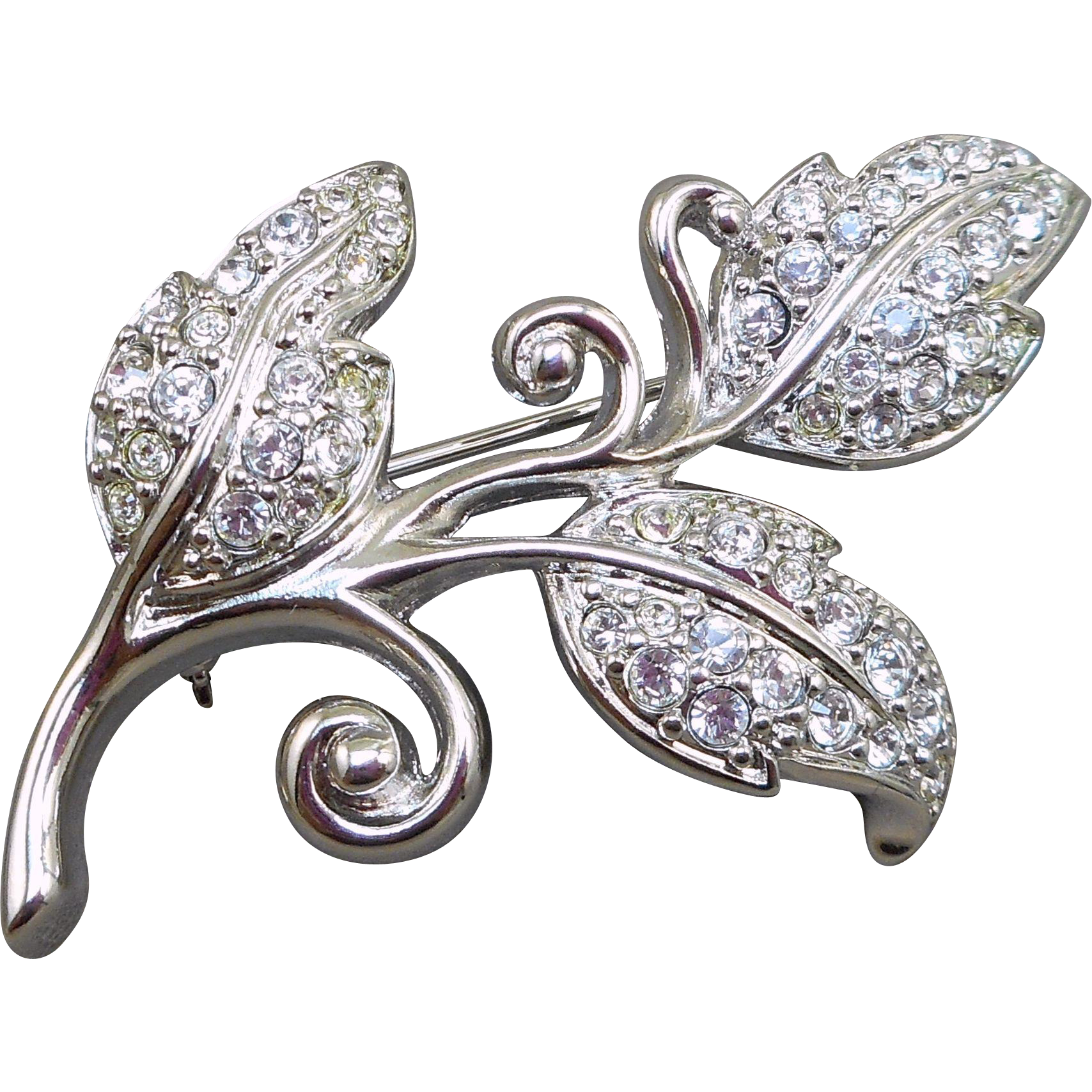 Swarovski Leaves Pin