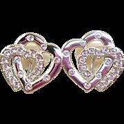 Swarovski Heart Earrings
