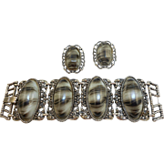 Vintage Bracelet Earrings Set
