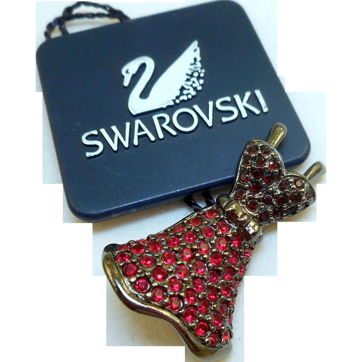 Swarovski Red Dress Pin
