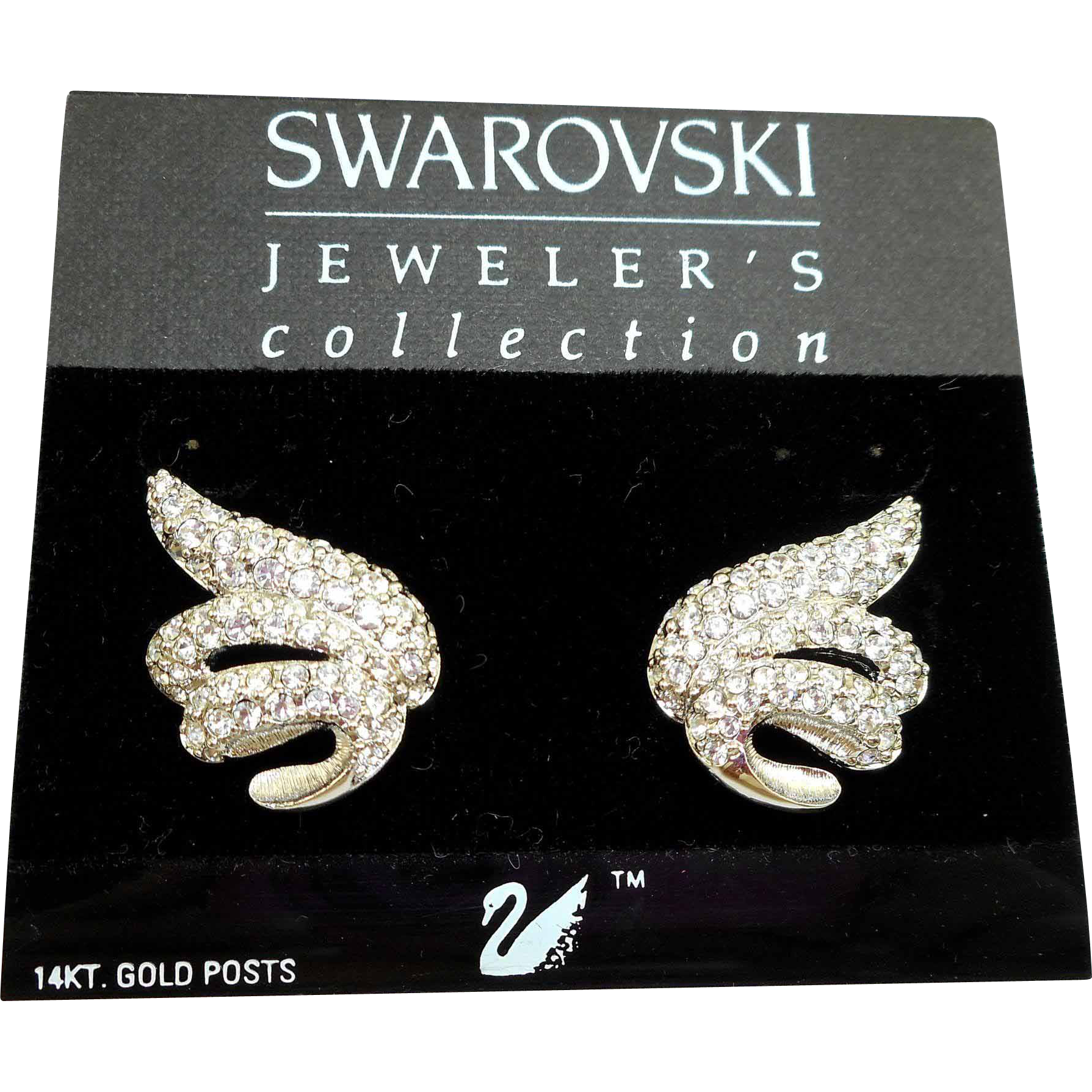 Swarovski Rhinestone Earrings MOC