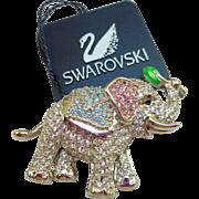 Swarovski Elephant Pin