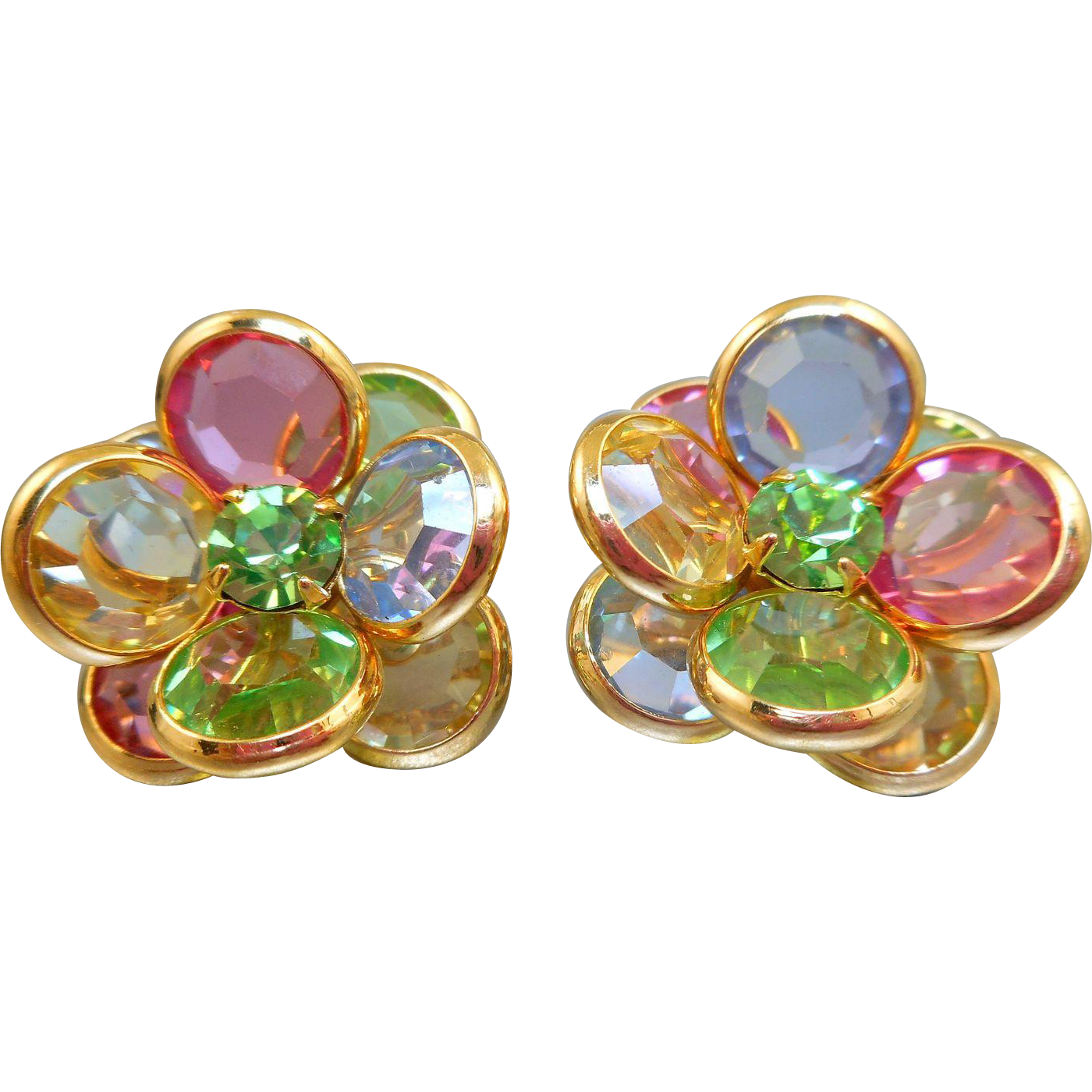 Vintage Swarovski Pastel Earrings