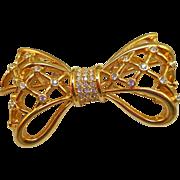 Swarovski Bow Brooch
